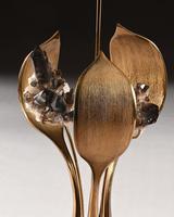 Impressive 1970 Gilt Bronze and Quartz Lamp by Willy Daro (8 of 10)