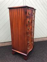 Serpentine Mahogany Slim Chest Drawers (8 of 8)