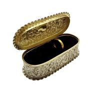Antique Victorian Sterling Silver Ring Box 1895 (4 of 9)
