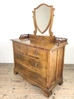 Edwardian Mahogany Serpentine Dressing Table Chest (8 of 9)