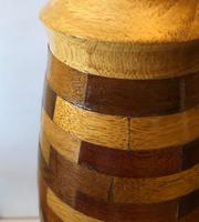 Large Vintage Wooden Segment Table Lamp (2 of 6)