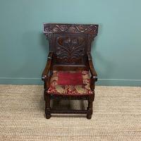 Quality Antique Oak Wainscot Chair (5 of 10)