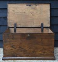Lovely 19th Century Elm Box / Chest / Blanket Box c.1830 (5 of 13)