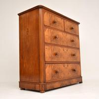 Antique Victorian Burr Walnut Chest of Drawers (7 of 11)