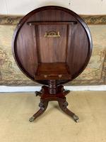 English 19th Century Mahogany Tilt Top Centre Table (7 of 8)