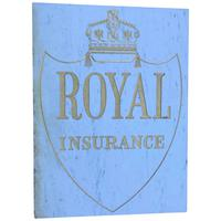 Interesting Architectural Large Heavy Marble & Gilt Inscribed Royal Insurance Building Sign