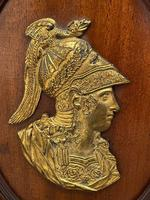 Pair of Interesting 19th Century Gilded Bronze Alexander The Great & Napoleon Cameo Plaques (2 of 29)