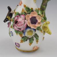Spode Porcelain Bird & Flower Encrusted Scent / Perfume Bottle (8 of 13)