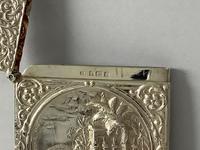 Antique Edwardian Silver Castle Top Card Case (4 of 5)