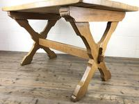 Solid Oak Table on X Frame Base (8 of 9)