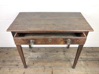 Georgian Oak Single Drawer Side Table (4 of 10)