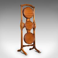 Antique Monoplane Folding Cake Stand, Mahogany, Afternoon Tea, Table, Edwardian (2 of 12)