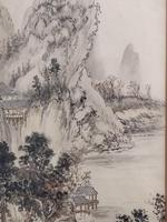 Three Japanese original ink/ watercolour lanscape paintings circa mid. 20th Century (4 of 20)