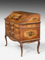 Mid 18th Century Venetian Lacquered and Gilded Bureau (2 of 8)
