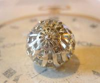 Vintage Pocket Watch Chain Fob 1970s Large Fancy Chrome Ball Fob (4 of 6)