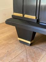 Jacques Adnet French Art Deco Modernist Ebonised Enfilade Sideboard with Gilt Bronze Mounts (5 of 12)