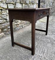 Antique Georgian Oak Side Table (5 of 14)