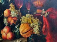 Old Master Revival - Large Original Antique Dutch Still Life of Flowers & Fruit (8 of 12)