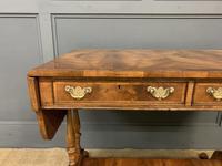 Good Burr Walnut Sofa Table c.1900 (4 of 19)