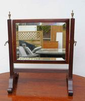 Small Victorian Mahogany Dressing Table or Toilet Mirror