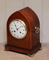 Good Quality 19th Century Rosewood Lancet Top Mantel Clock c.1890