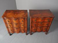 Antique Matched Pair of Walnut Chest of Drawers (11 of 20)