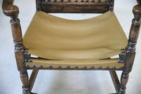 Oak & Leather Carver Chair (5 of 12)