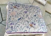 Stylish 19th Century French Upholstered Stool (2 of 6)