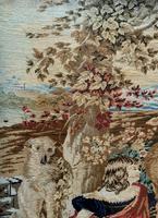 Large Beautiful Framed Original 19thc German Berlin Needlework Tapestry Picture (12 of 15)