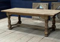 Deep Bleached Oak French Farmhouse Dining Table (4 of 20)