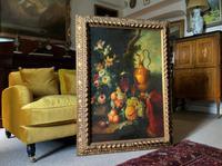 Old Master Revival - Large Original Antique Dutch Still Life of Flowers & Fruit (2 of 12)