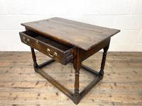 Antique Georgian Oak Side Table (9 of 10)
