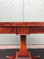 Quality Inlaid Mahogany Fold Over Games Table (5 of 12)