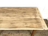 Antique Oak Scrub Top Kitchen Table (8 of 11)