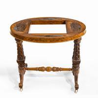 Victorian Walnut & Pietra Dura Table (13 of 16)