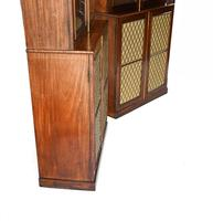 Pair of Regency Library Bookcases Display Cabinets c.1820 (10 of 12)