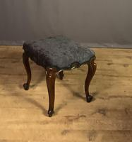 Useful Victorian Rosewood Stool (10 of 11)