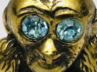 Small Brass Monkey Vesta Match Holder With Glass Eyes (4 of 17)