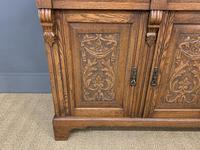 Victorian Carved Oak 3 Door Bookcase (8 of 23)