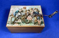 Victorian 3 Air Hurdy Gurdy Music Box (10 of 13)