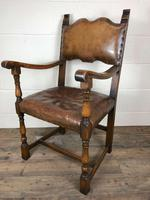 Set of Four Antique Leather Armchairs (10 of 16)