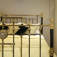 Highly Decorative Cast Iron Antique Bed in Black (5 of 9)