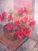 Oil on Board Azaelas in a Pot Listed Artist Richard Sorrell RWS (12 of 12)