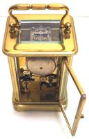 Good Antique French 8-day Carriage Clock Bevelled Case with Bell Alarm Feature (12 of 13)