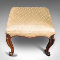 Antique Dressing Stool, English, Walnut, Upholstery, Boudoir Seat, Regency c.1820 (8 of 12)