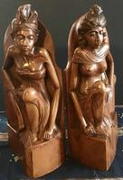 Pair of Large Hand Carved  Indonesian Bookends (3 of 12)