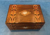 Victorian Walnut & Tunbridge Ware Jewellery Box (2 of 11)