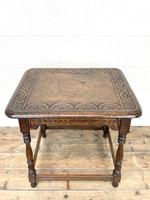 Early 20th Century Antique Oak Carved Side Table (8 of 10)