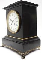 Antique French Slate & Ormolu Mantel Clock striking 8 day (7 of 11)