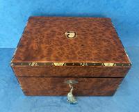 Victorian Burr Cedar Jewellery Box (4 of 11)